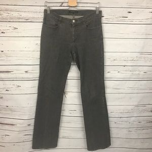 Theory Gray Boot Cut Jeans Size 8